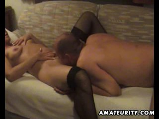 Mature amateur wife homemade blowjob increased by fuck with cumshot