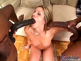 Lisa Marie fucked by two felonious monster cocks